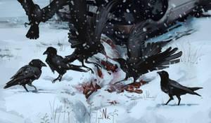 Crows [Goretober 11] by OrangeSavannah