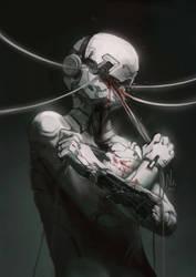 Cyborg [Goretober 02] by OrangeSavannah