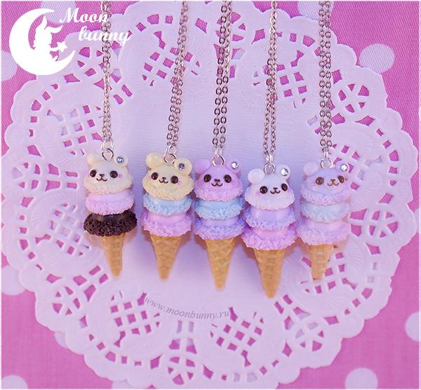 Sugar Baby bear Necklace by CuteMoonbunny