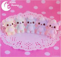 Pastel ice-cream bears Ring by CuteMoonbunny