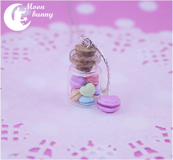 Macaron hearts Necklace By Moon bunny by CuteMoonbunny