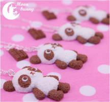 Chocopanda (Chocolate Panda) Necklace By MoonBunny by CuteMoonbunny