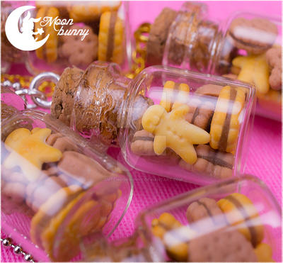 Favorite cookies in the bottle Necklace by CuteMoonbunny