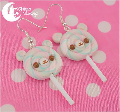 Lollipop bears Earrings by CuteMoonbunny