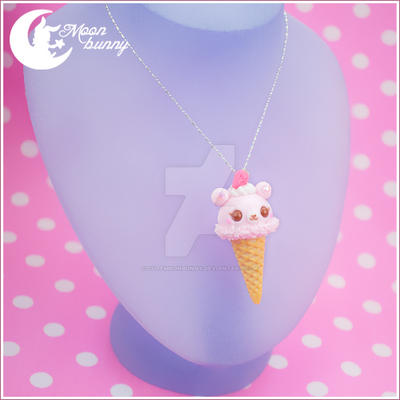 Sweet ice-cream friend Pendant by CuteMoonbunny