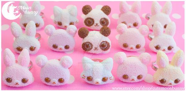 Cute friends Rings by CuteMoonbunny