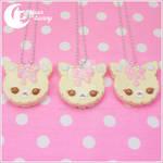 Cute cookie cat necklace
