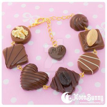 Favorite chocolate Bracelet 2 by CuteMoonbunny