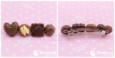 Favorite chocolate Hair clip by CuteMoonbunny