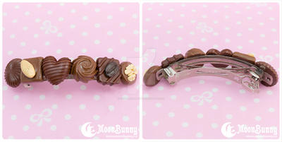 Favorite chocolate Hair clip 2 by CuteMoonbunny