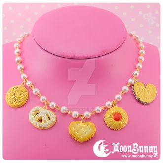 Favorite cookie necklace by CuteMoonbunny