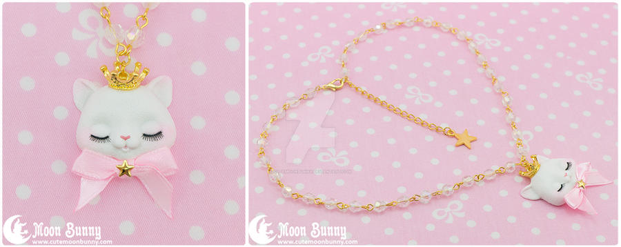 Princess kitty Necklace 2 by CuteMoonbunny