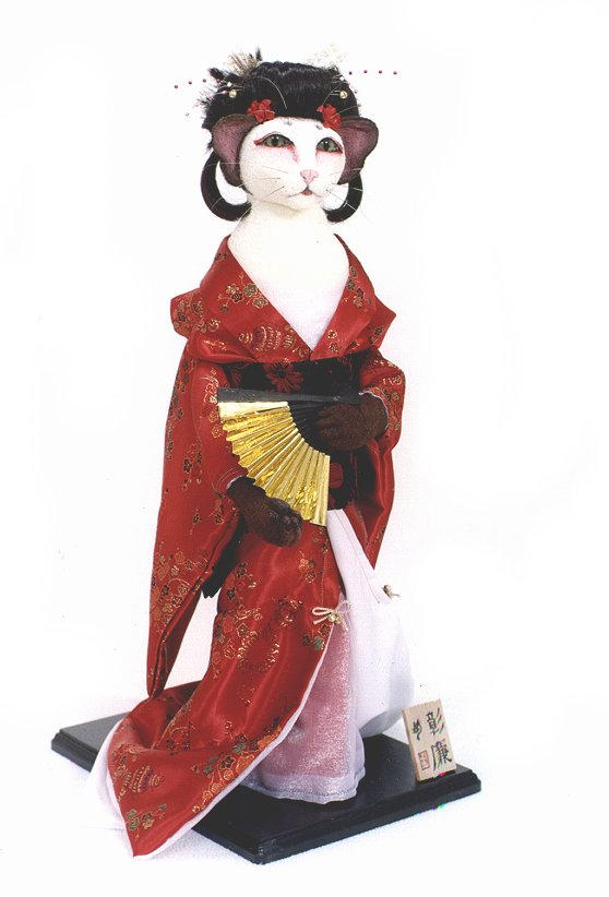 Shouren:  Feline Geisha by crokittycats