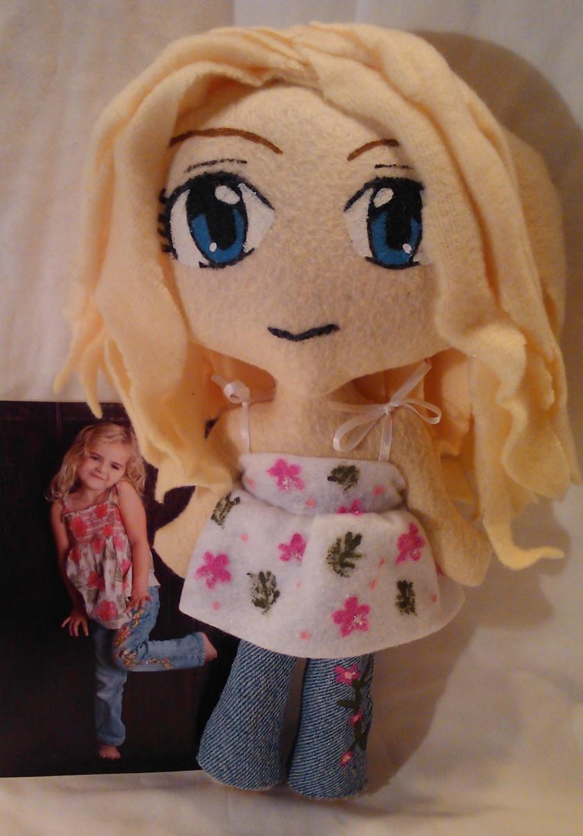 My Lil Niece MiniChibi Plush -xmas gift by mihijime