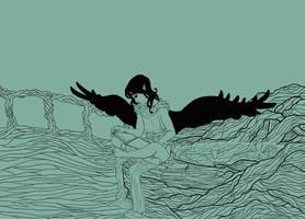 Kiyal Reads [lines] by birdofj