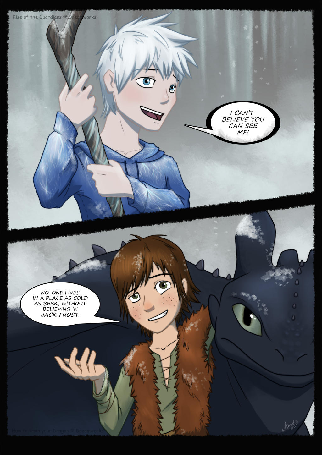 Dragons and Snow by AbnormallyNice