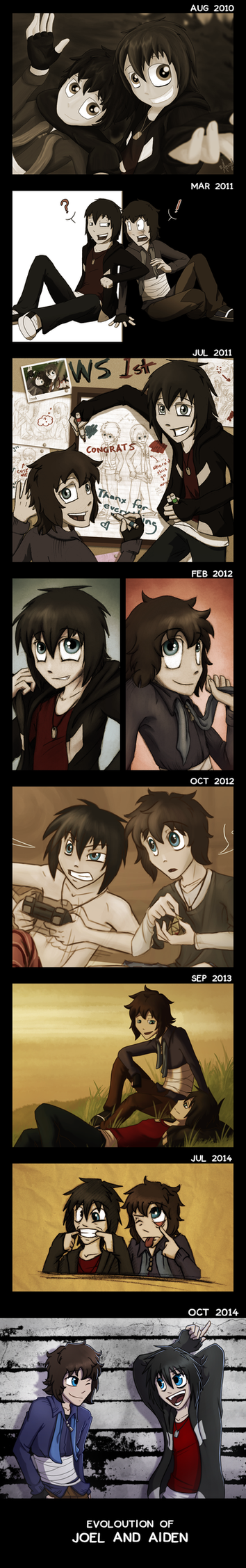The twins over the years by AbnormallyNice