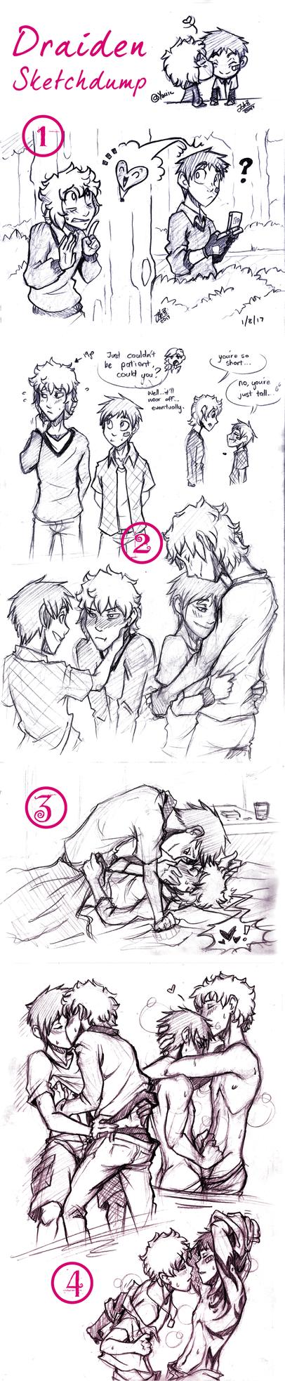Draiden Sketch Dumparoo by AbnormallyNice
