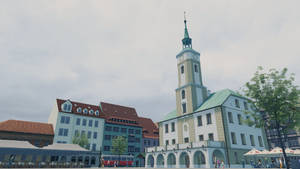 Low-poly Gliwice Town Hall