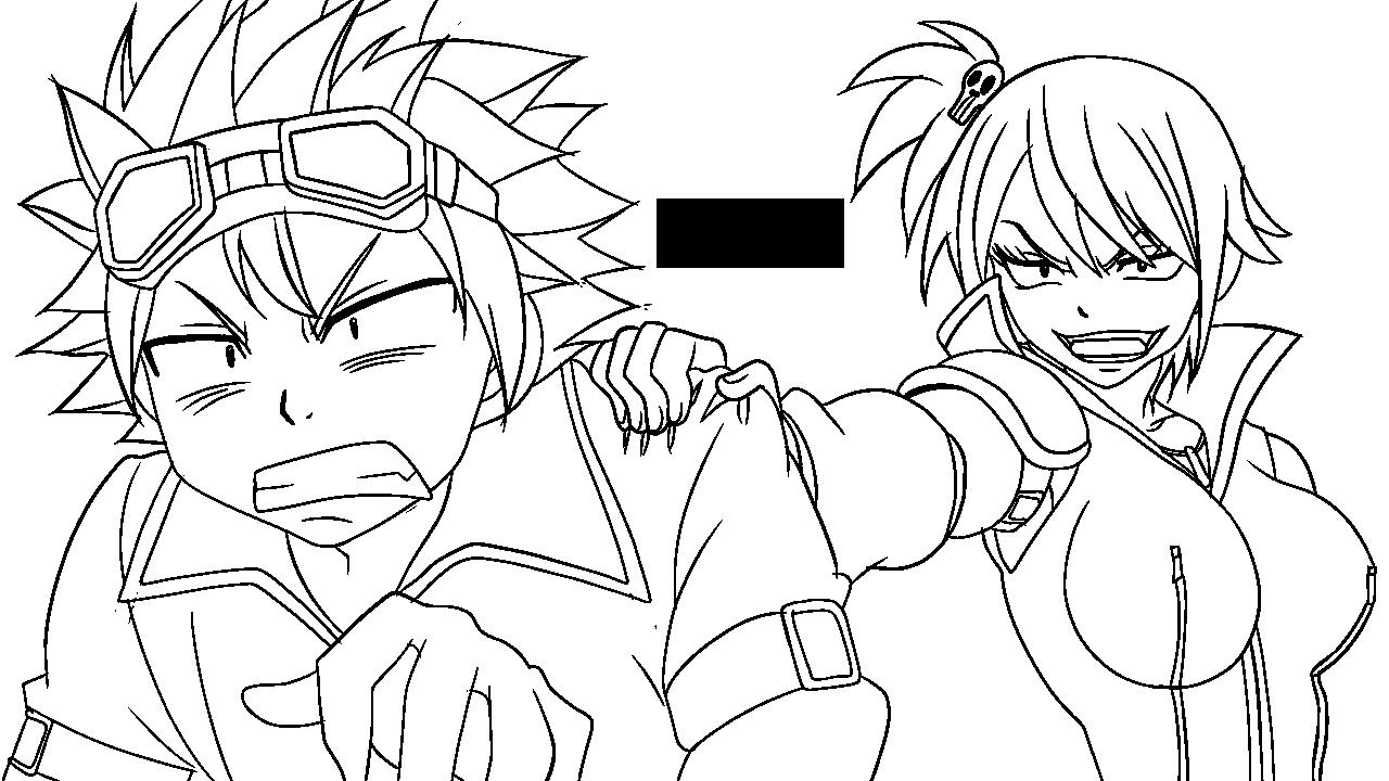 Natsu Lineart : Natsu and lucy edolas lineart by xubeix on deviantart