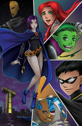 Teen Titans By Tyrinecarver-d5w0zjq
