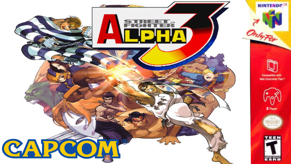 Street Fighter Alpha 3 N64 Box Art By Megarainbowdash2000 On