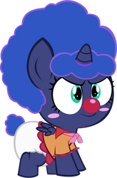 Luna Foal Clown 2 ANGRY by MEGARAINBOWDASH2000