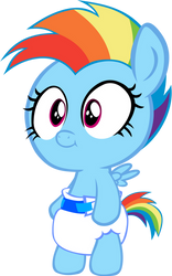 Baby Rainbow Dash Mark 2 by MEGARAINBOWDASH2000