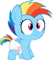 Baby Dashie 1 by MEGARAINBOWDASH2000