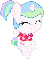 BABY CELESTIA Vacation 2 by MEGARAINBOWDASH2000