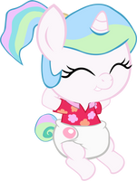BABY CELESTIA Vacation 3 by MEGARAINBOWDASH2000