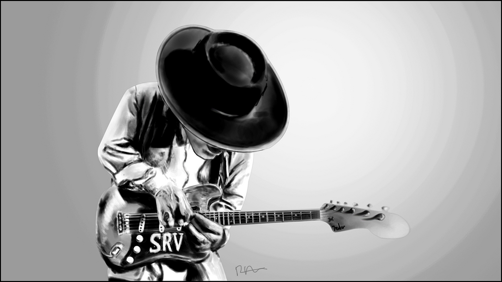 Stevie ray vaughan caricature by superffc on deviantart for Stevie ray vaughan tattoo