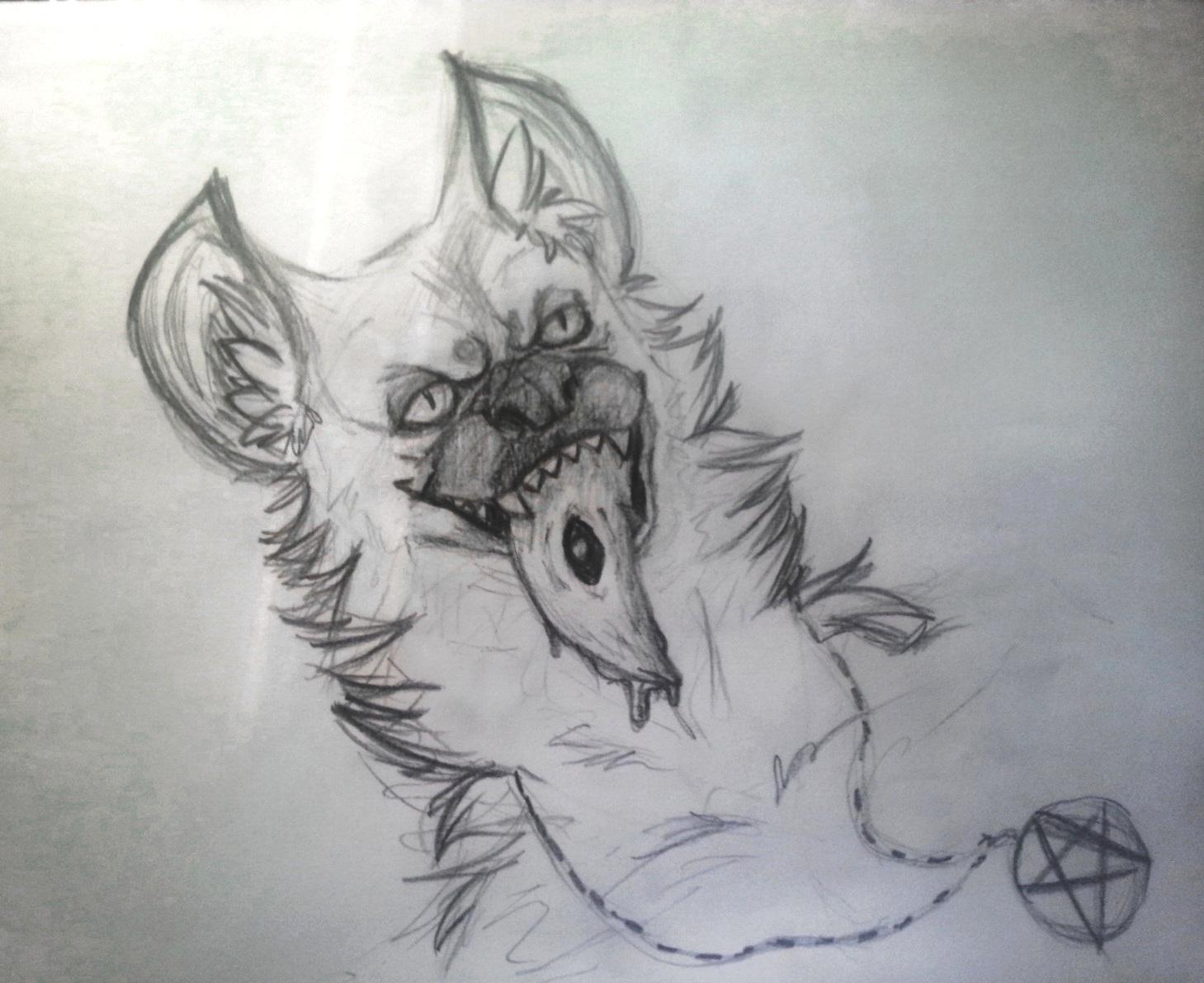 Drawing -  Hyena by k0FFe