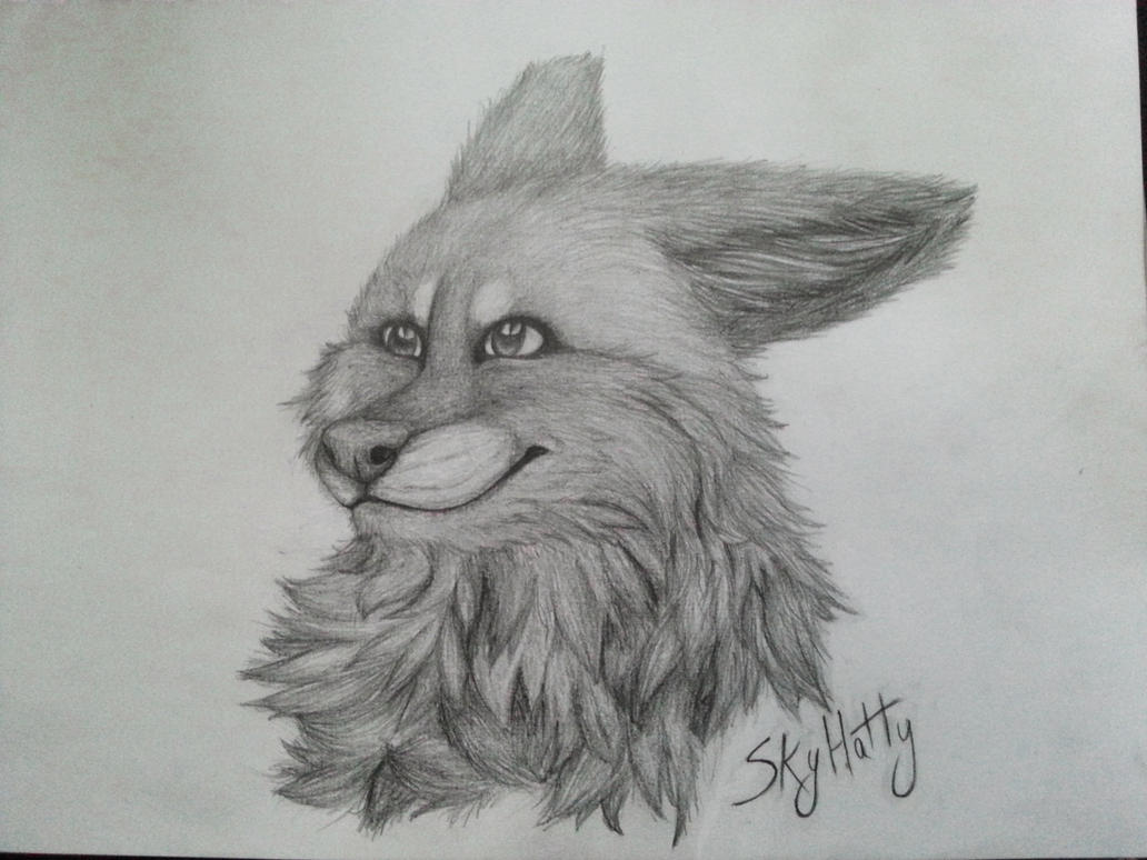 Drawing - Fox by k0FFe