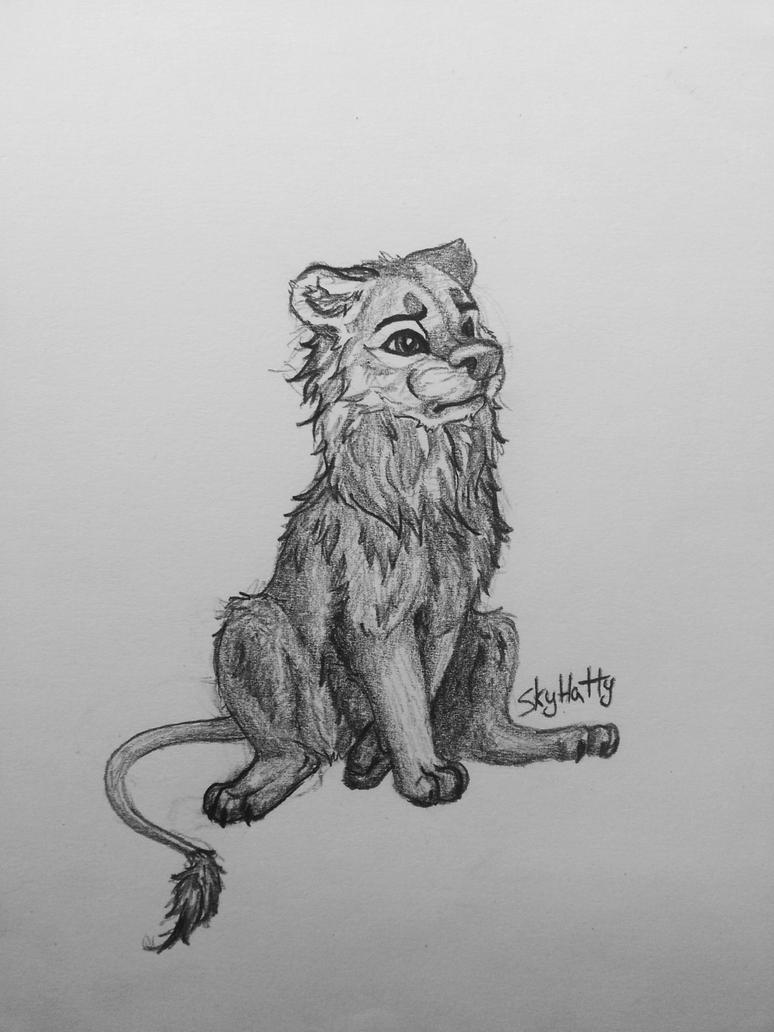 Drawing - Lion/wolf by k0FFe