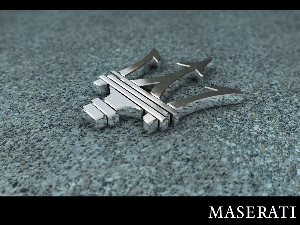 Maserati Logo Badge by zigshot82