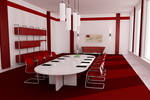 business room   - red