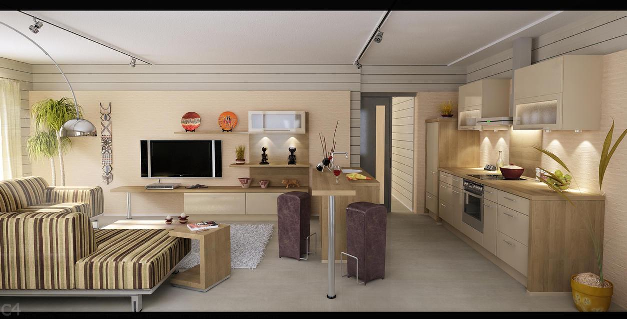 Living kitchen full by zigshot on deviantart