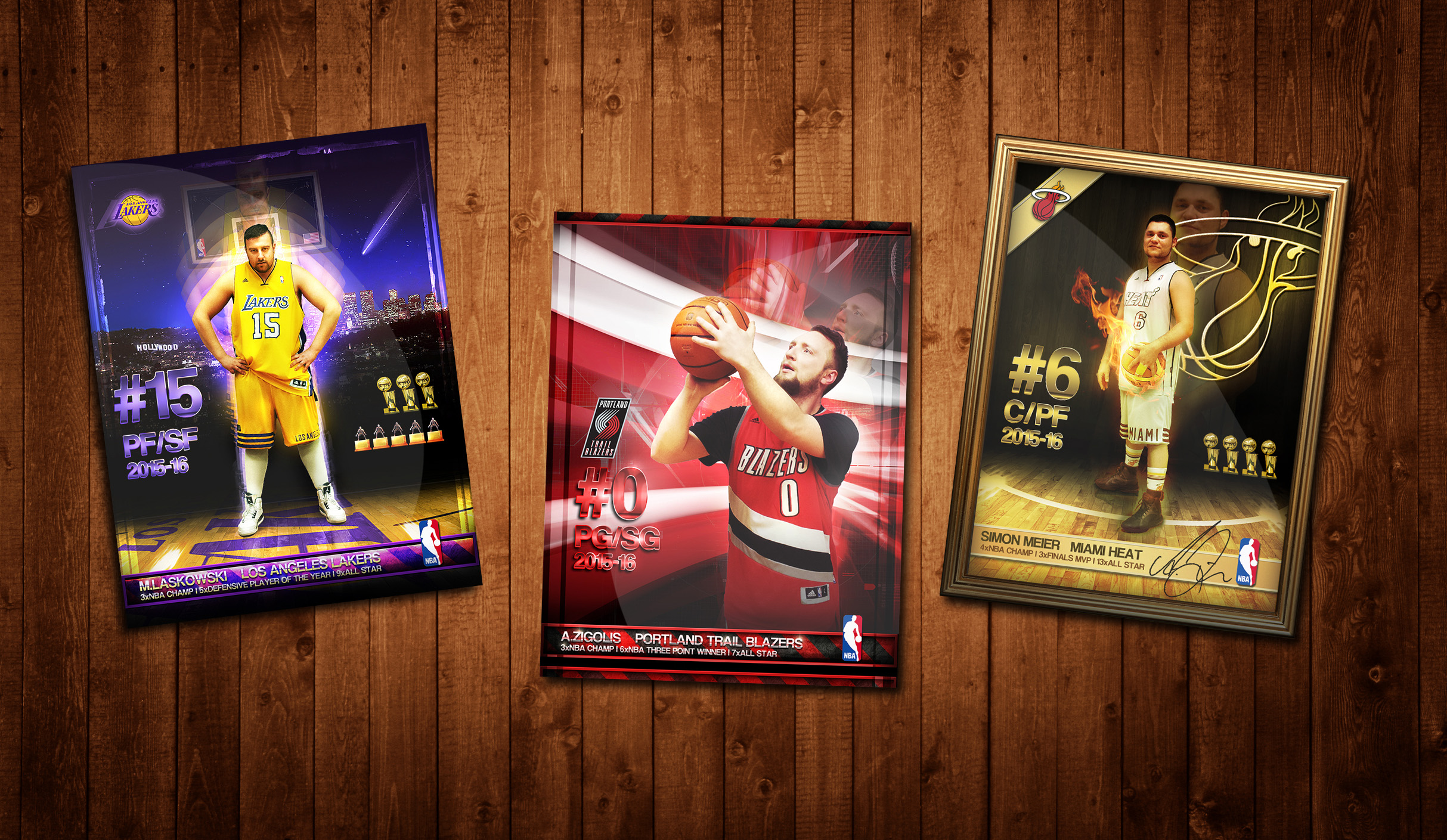 NBA Trading Cards Photoshop CS by zigshot82