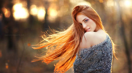 Beauty of red girl by OlgaBoyko