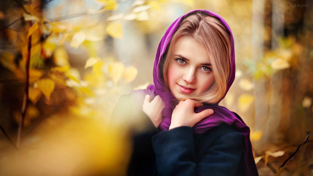 Autumn girl by OlgaBoyko