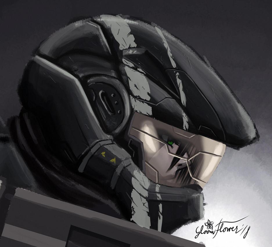 Painty helmy lady by Splinterlight