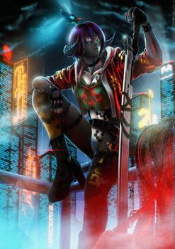 Cyber Dragon Techno Blade - commission -