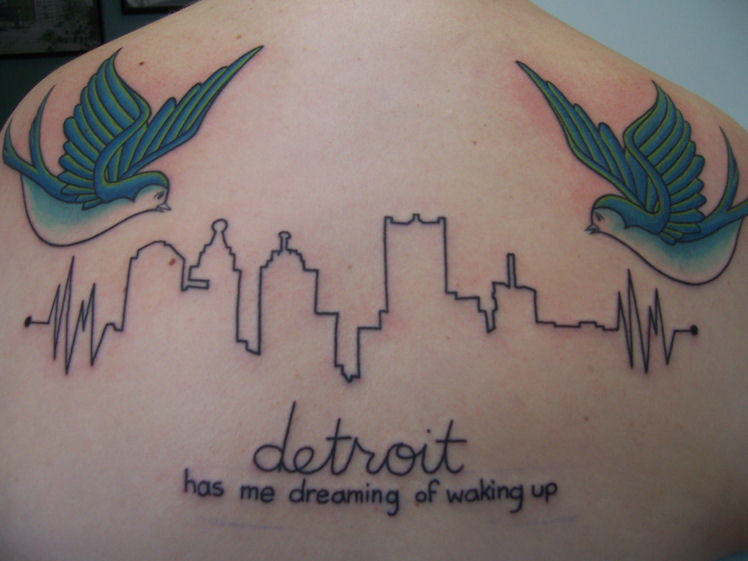 Beginnings of a back piece by reneetron on deviantart for Detroit tattoo shops