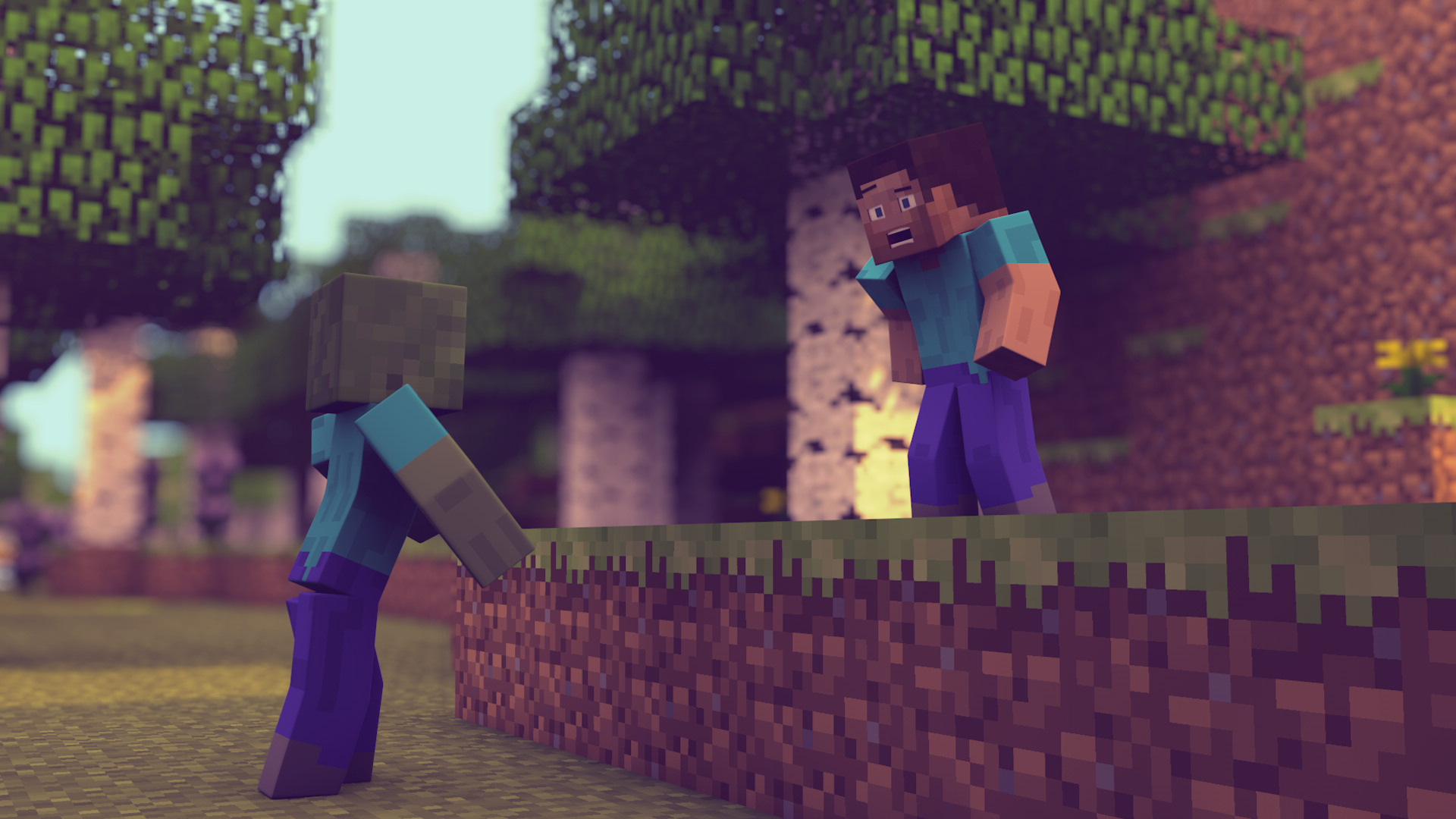 Cool Wallpaper Minecraft Love - a_zombie___minecraft_1920x1080_wallpaper__by_xifrost21-d7ahrf5  Perfect Image Reference_604516.png