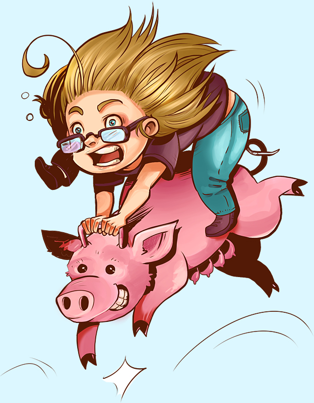 Piggyjump by CarolinReich