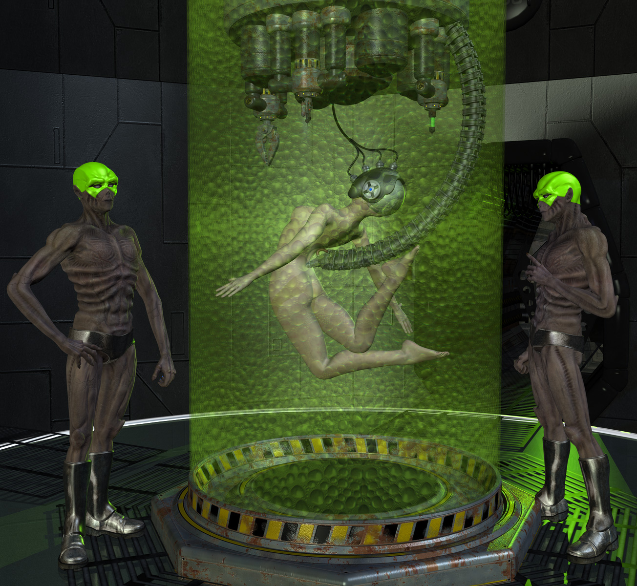 Cartoon naked girls getting experimented by aliens watch