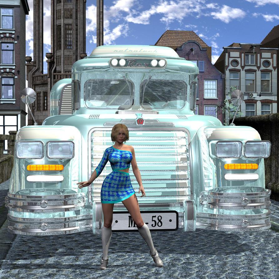 Bus Girl by silverexpress