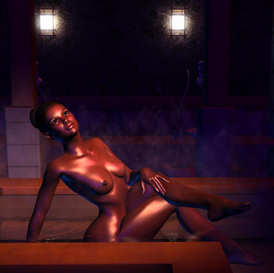 Sarimena in the bath by silverexpress