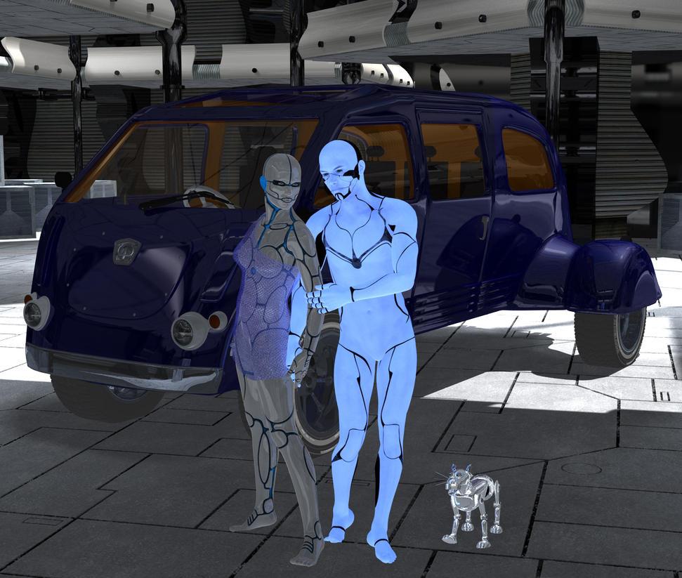 Cyborgs in love by silverexpress